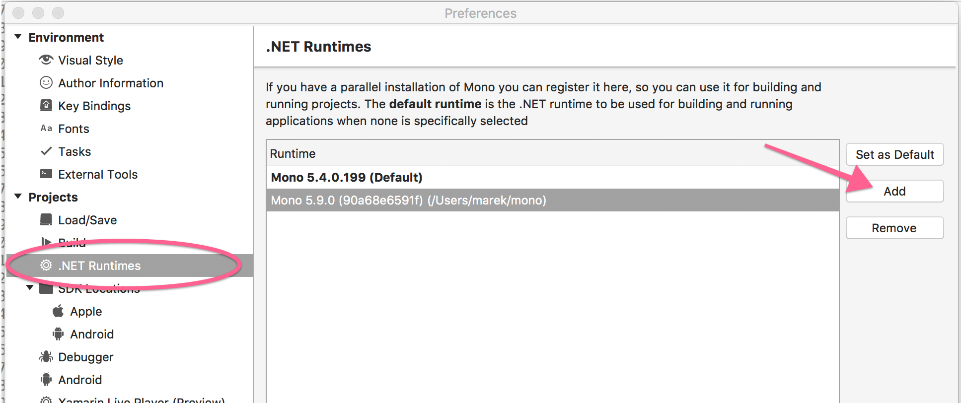 .NET Runtimes