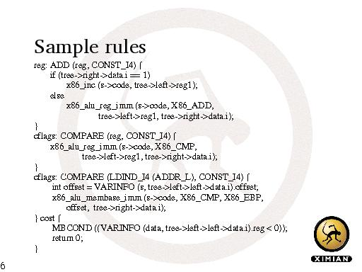 Sample rules